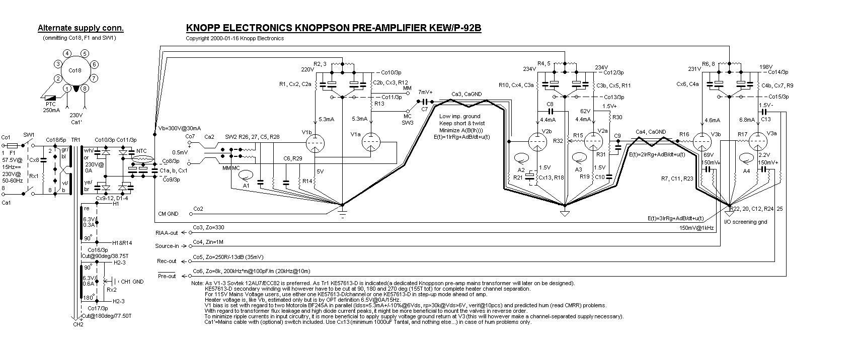 Knopp Voltage Tester : Roger s pre amplifier mk ii